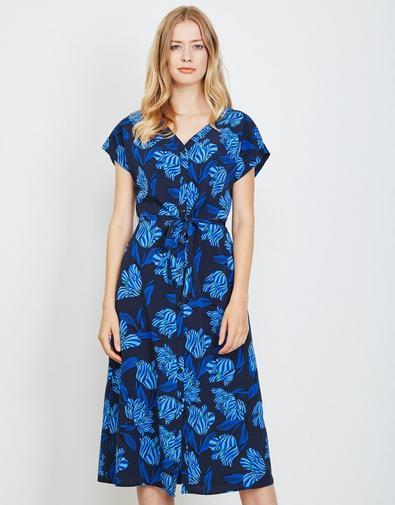 Donkerblauwe maxi jurk